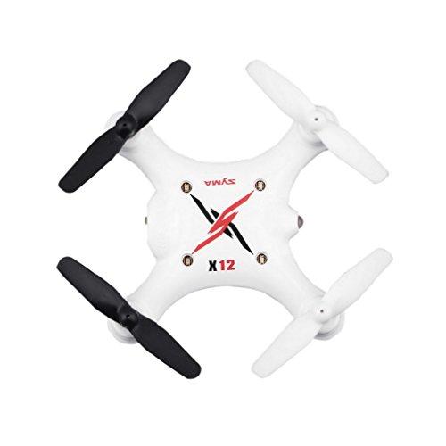 YKS X12S Mini 6-Axes Gyro 4 Canal RC 2.4G Nano Hélicoptère Drone Quadcopter BeiyiHomeFR (Blanc)