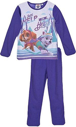 Nickelodeon Paw Patrol Mädchen Lange Pyjamas / Nachtwäsche (Lila , 3 Jahre)
