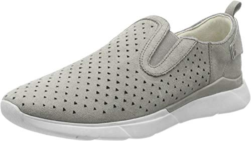 Geox D Sandal Hiver A, Zapatillas sin Cordones Mujer, Gris (Lt Grey C1010), 38 EU