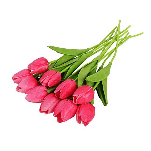 Gzjdtkj Künstliche Blumen 10 stücke künstliche tulpen Blumen Hause Garten Dekoration echte Touch Blume blumenstrauß Geburtstagsfeier Hochzeit Dekoration gefälschte Blume (Color : 10pcs Color H)