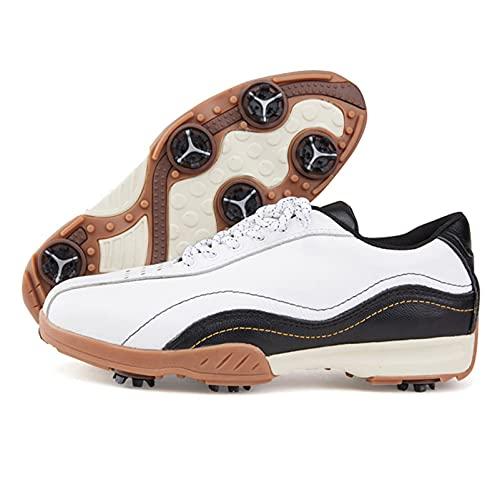 WUDAXIAN Zapatos de Golf Transpirables y cómodos para Hombres con Clavo móvil extraíble, Zapatillas de Golf Transpirables y Antideslizantes para Hombres