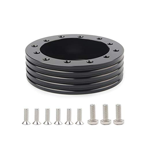 LicBund 1 Steering Wheel Hub Adapter Conversion Spacer 6 Hole to 3 Hole Steering Wheel Adapter Boss Kit to fit Grant,Forever Sharp, APC,Pilot 3 Hole Steering Wheel Adapter boss kit