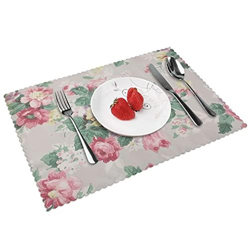 Pinterest Vintagerose Estos patrones vintage Are Nice Too - Mantel de mesa (4 piezas, algodón), lavable