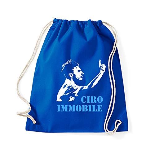 Art T-shirt, Zaino Sacca Ciro Immobile Lazio, Blu