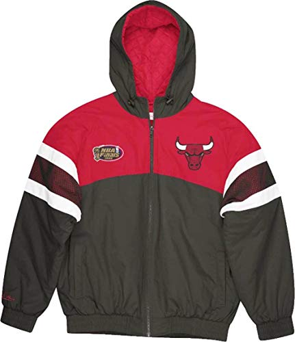 Mitchell & Ness Chicago Bulls NBA Team Prospect Heavyweight Jacket Black Jacke Anorak(XL,Black)