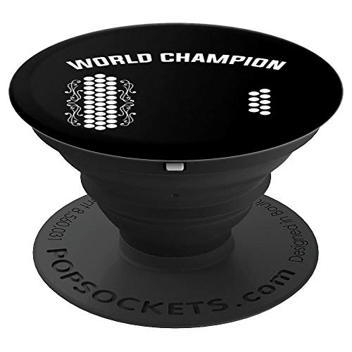 Air Accordion World Champion   Funny Music Gift Idea PopSockets Grip and Stand for Phones and Tablets