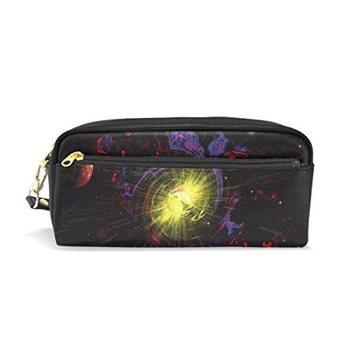 AOOEDM Estuche para lápices Estampado elegante Star Planet Galaxy Sun Cosmos Universe Art Pattern Estuche para bolígrafos de gran capacidad Estuche para maquillaje Durable para estudiantes Papelería