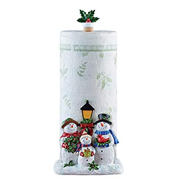 Cheerful Snowmen Family Kitchen Paper Towel Holder - Festive Holiday Decoration for Kitchen