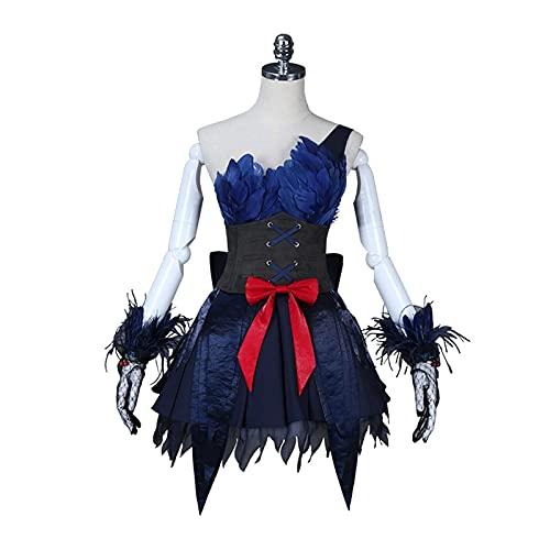 MixFactory Traje de cos Identidad V: Fuerza Area Black Swan Feather Cosplay Costume (Color: XL) Cosplay Disfraces Cape para nios Adultos (Color : XL)
