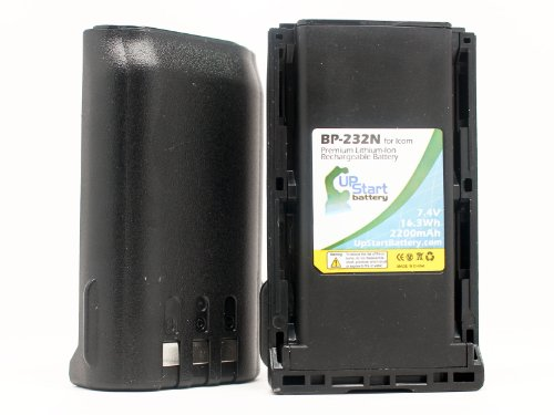 2 팩 - ICOM BP-232N 배터리 대체 - ICOM BP232N 2-웨이 라디오 배터리(2200MAH 7.4V 리튬 이온)와 호환