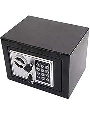 خزنة رقمية صغيرة خزنة امان صندوقية مع دخول الكتروني بدون مفتاح للمنزل والمكتب 20EB اسود