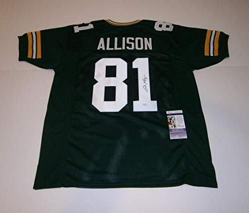 PACKERS Geronimo Allison signed custom green jersey w/ #81 JSA AUTO Autographed - Autographed NFL Jerseys