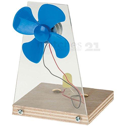 matches21 Windgenerator Bausatz Windrad Windmaschine Werkset Funktionsmodell Bastelset für Kinder ab 7 Jahren
