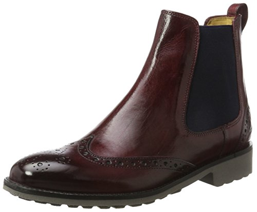 MELVIN & HAMILTON MH HAND MADE SHOES OF CLASS Damen Amelie 5 Chelsea Boots, Rot (Crust Burgundy, Ela. Navy, Rook D Grey), 41 EU