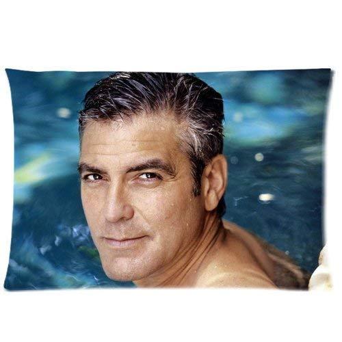pica Custom George Clooney Home Decorative Soft Throw Pillowcase Cushion Custom Pillow Case Cover Protecter with Zipper Printed Copricuscini e federe (50cmx65cm)