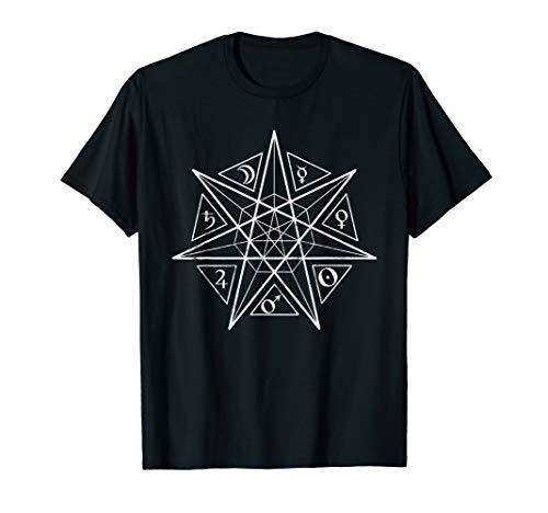 Heptagram Alchemy 7 Pointed Fairy Star T-Shirt