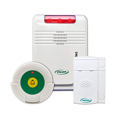 Smart Caregiver Alert Monitor with Door/Window Exit Alarm and Remote Reset Button - Get to Them Before They Wander Away