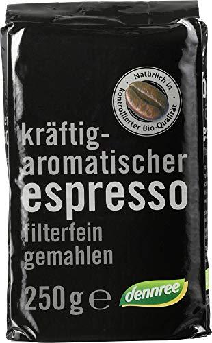 dennree Espresso, gemahlen (250 g) - Bio