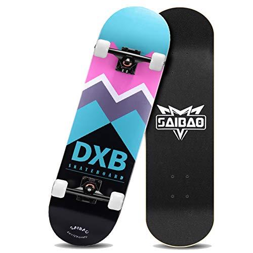 Nengge Double Kick Trick Skateboards, professioneel, compleet board voor kinderen, jongens en volwassenen