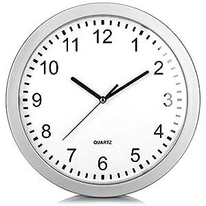 com-four® Reloj de Pared con Caja Fuerte - Caja Fuerte escondida en el Reloj - Reloj de Cocina con escondite para Objetos de Valor y Dinero - Reloj de Cuarzo con escondite Secreto