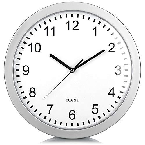 com-four Reloj de Pared con Caja Fuerte - Caja Fuerte escondida en el Reloj - Reloj de Cocina con escondite para Objetos de Valor y Dinero - Reloj de Cuarzo con escondite Secreto