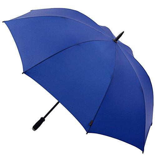 Umbrella ZI LING Shop- Storm Golf Regenschirm im Freien großen Griff Regenschirm Windproof Sonnenschutz geraden Regenschirm (Farbe : Blau)