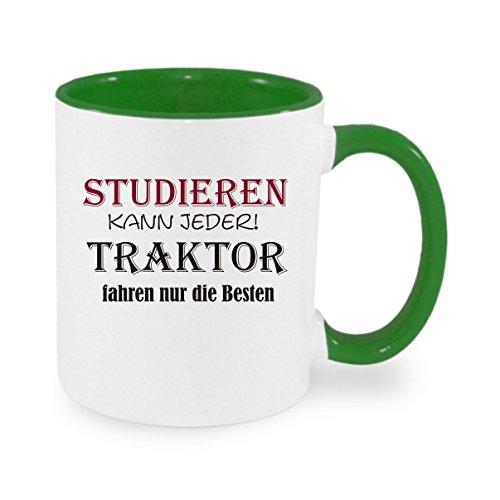 Creativ Deluxe Studieren kann jeder - Traktor Fahren nur die Besten Kaffeetasse mit Motiv, Bedruckte Tasse mit Sprüchen oder Bildern - auch individuelle Gestaltung nach Kundenwunsch