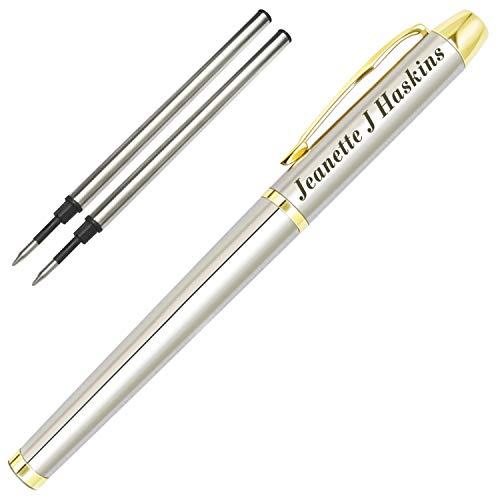 Penna Personalizzata,Penna e Custodia Con Incisioni Personalizzate,Regali Personalizzati per Padre,Capo,Ufficio, Compleanno e Laurea