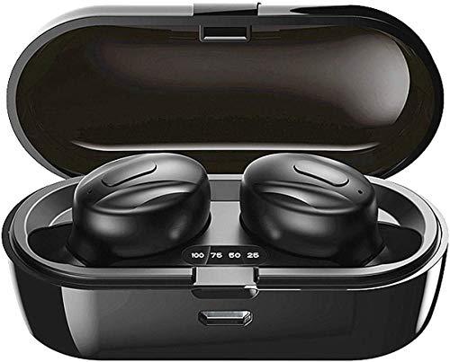 Auriculares Bluetooth, 2020 Auriculares Inalambricos Bluetooth con CVC 8.0 cancelación de Ruido, Cascos inalambricos Bluetooth internos de 15 Horas para Sport Android iOS PC-7
