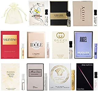 11 Women's Perfume Samples Vials with Organza Bag