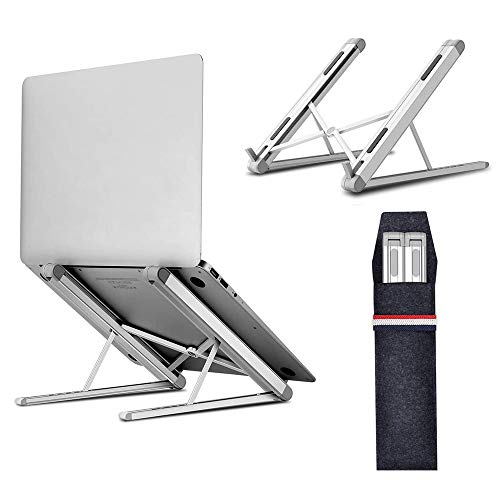 Laptop Stand, Tendak Portable Computer Desktop Stand Adjustable Foldable Travel Notebook Holder Mount for MacBook/Lenovo/ASUS/Thinkpad/Dell/HP/Acer