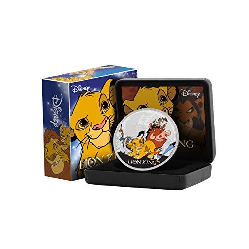 IMPACTO COLECCIONABLES Disney El Rey León Edición Luxe - Moneda / Medalla bañada en Plata .999 - 65mm