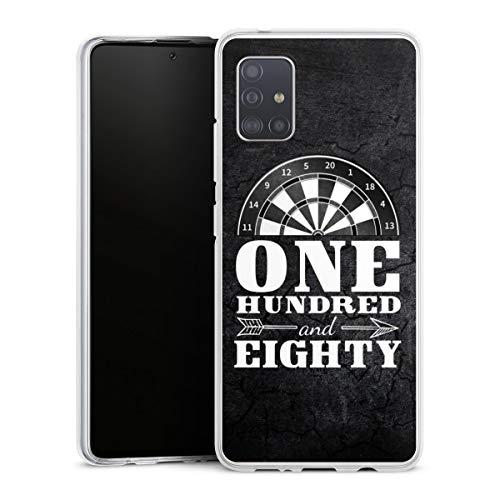 DeinDesign Silikon Hülle kompatibel mit Samsung Galaxy A51 5G Case transparent Handyhülle Dart Sport