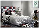 ONEK-DECCO Cabecero de Cama Polipiel de Dormitorio Mod. Kansas Patchwork 2 Largo, Acolchado de Espuma Varias Medidas, Cama de niño, Juvenil y Matrimonio (90x125)