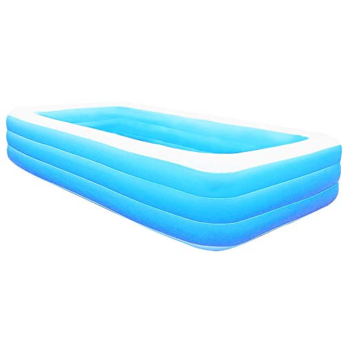 TOPQSC Piscina inflable cuadrada, piscina de bolas marinas gruesa resistente al desgaste, piscina inflable de verano de la familia de los niños del bebé adulto piscina
