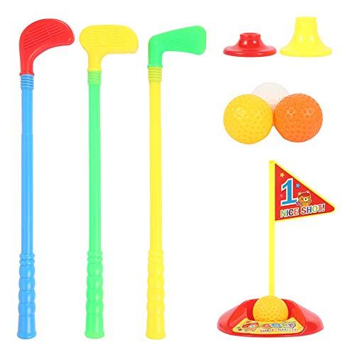 Zzlush Educational Spielzeug Kinder Lernen Kinder Golf Training Set Kunststoff Putter Frühe Bildung für Outdoor Sports Fitness Übung Spielzeug Elternkind Interaktives Spiele (Color : Multicolor)