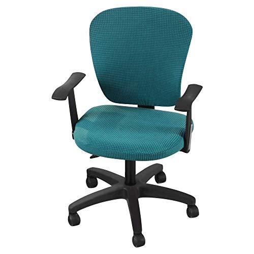 LYY Bürostuhlbezüge, Stretch Computer Chair Schonbezüge Protector, abnehmbare waschbare Stuhl Sitzkissen Protektoren, Stuhlbezug
