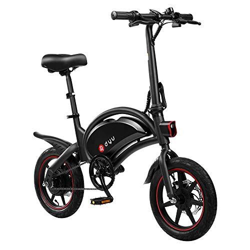 DYU D3F Bicicleta eléctrica Plegable de montaña, Bicicleta