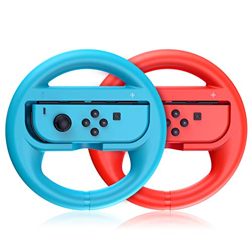 VOYEE Replacement for Nintendo Switch Steering Wheel, Compatible with Mario Kart 8 Deluxe Nintendo Switch Wheel 2 Pack