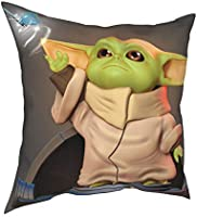 Baby Yoda Decorative Throw Pillow Covers for Couch Bedroom Couch Sofa Living Room 18x18 inch