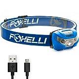 Foxelli USB Rechargeable Headlamp Flashlight - Super Bright &...
