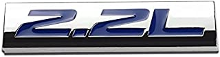 UrMarketOutlet 2.2L Blue/Chrome Aluminum Alloy Auto Trunk Door Fender Bumper Badge Decal Emblem Adhesive Tape Sticker
