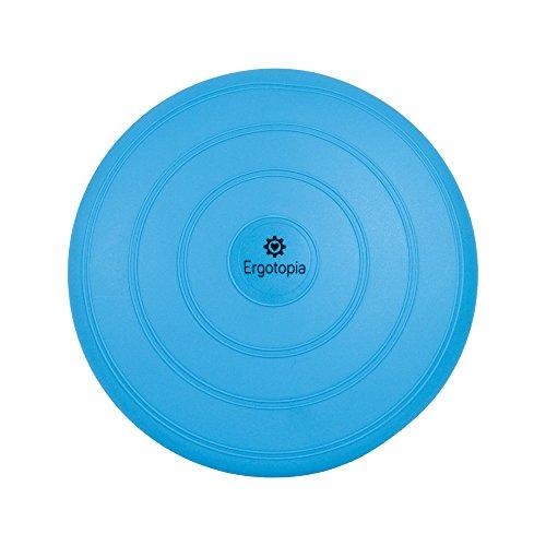 Ergotopia® Balance Kissen Beugt Rückenschmerzen vor, löst Verspannungen/Ergonomisches Ballsitzkissen inklusive Luftpumpe (Blau, 33cm)