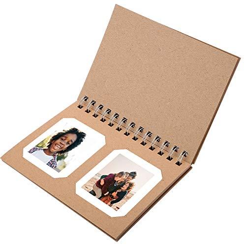 Zakfotoalbum, hoogwaardig papier Mini-fotoalbum Fotogeheugen Alubum voor 3-inch filmbeeld, voor 2 foto's per pagina, als decoratie, perfect cadeau voor familie of vrienden (kaki)