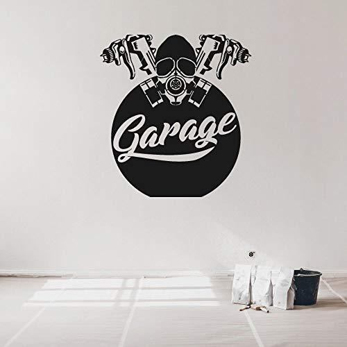 ASFGA Coole Maske Garage Wandtattoo Service Garage Wandkunst Dekoration Schlafzimmer Wohnzimmer Auto 57x62cm