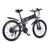 Bicicleta eléctrica plegable de 750 W, 12, 8 Ah, batería extraíble de 48 V, bicicleta eléctrica, 21 velocidades, neumático de 26 pulgadas, bicicletas eléctricas plegables para adultos, bicicletas elé