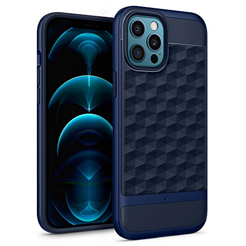 Caseology Parallax iPhone 12 Pro Max Back Cover Case Designed for iPhone 12 Pro Max - Midnight Blue