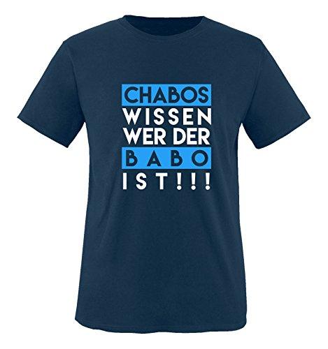 Comedy Shirts - Chabos wissen wer der BABO ist! - Herren T-Shirt - Navy/Weiss-Blau Gr. M
