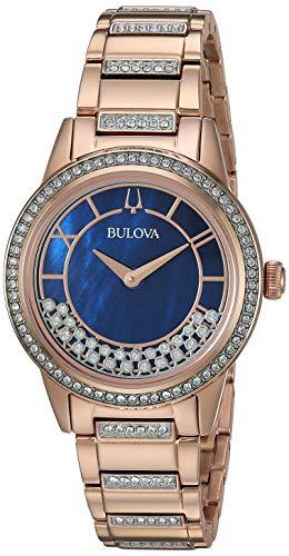 Bulova Women's Quartz Movement Two Tone Dress Watch (Model: 98L247)