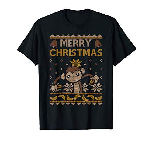 Affe Weihnachten Hemd Banane Ugly Merry Holiday Niedlich